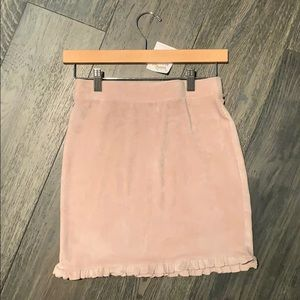 Velvet pink skirt size small very cute!